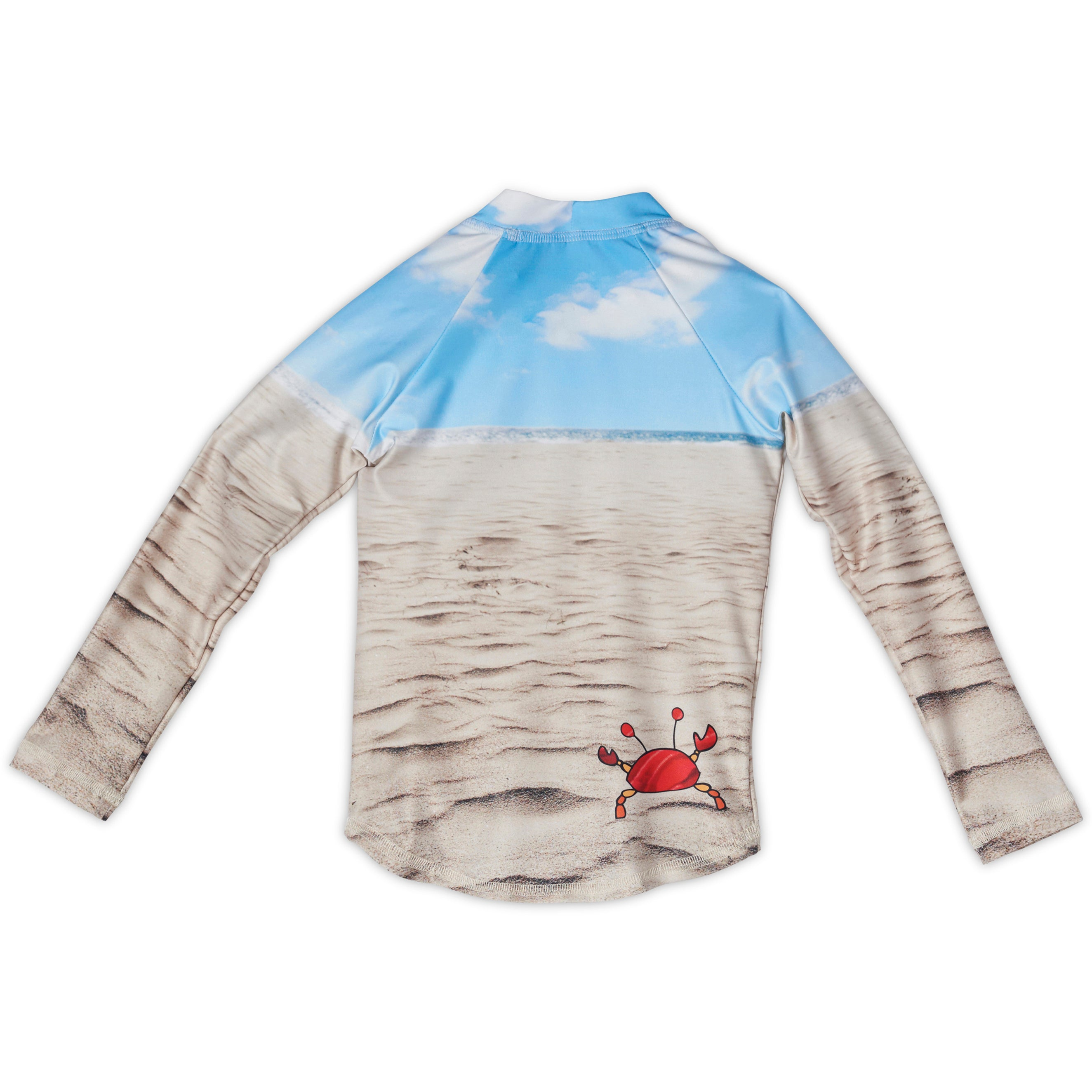 Sunny Crab Rash Guard Top Back Kids Sunpoplife
