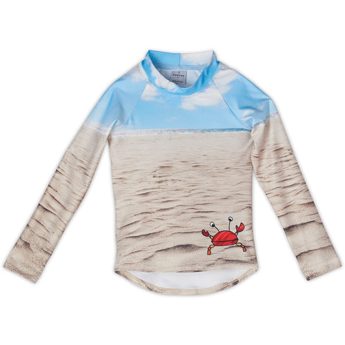 Sunny Crab Rash Guard Top Front Kids Sunpoplife