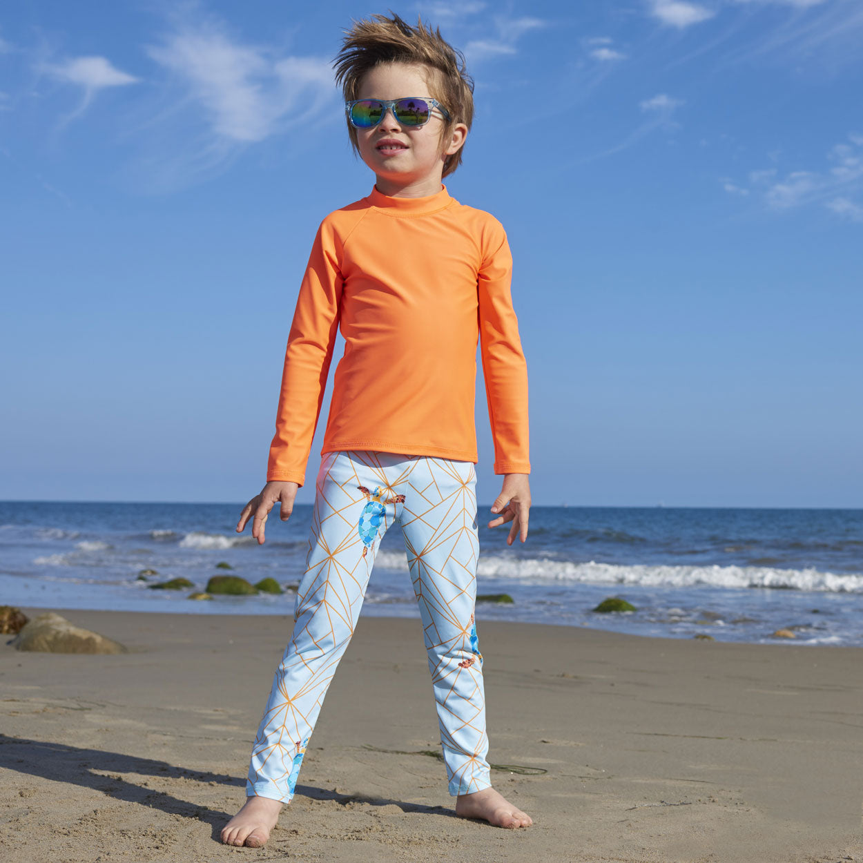 Turtle Hybrid Youth Leggings UPF 50+ for Boys