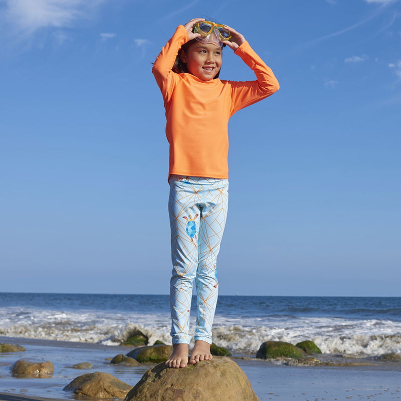 Turtle Hybrid Youth Leggings UPF 50+ for Girls