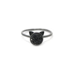 The Druzy Cat Ring in Black Druzy