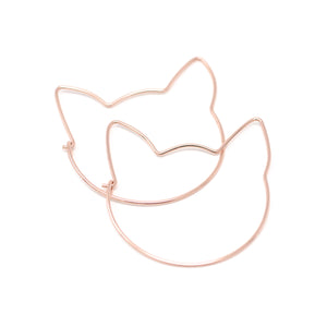 The Cat Hoop Earrings