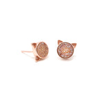 The Druzy Cat Stud Earrings in Pumpkin Spice Druzy