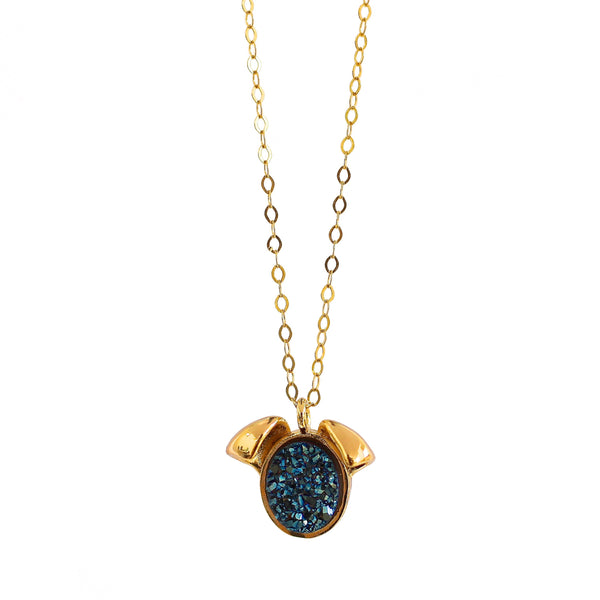 The Druzy Dog Petite Necklace