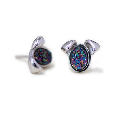 The Druzy Dog Stud Earrings