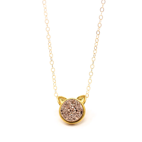 NECKLACE The Druzy Cat Petite