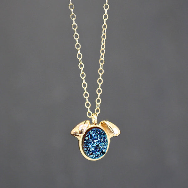 NECKLACE The Druzy Dog Petite