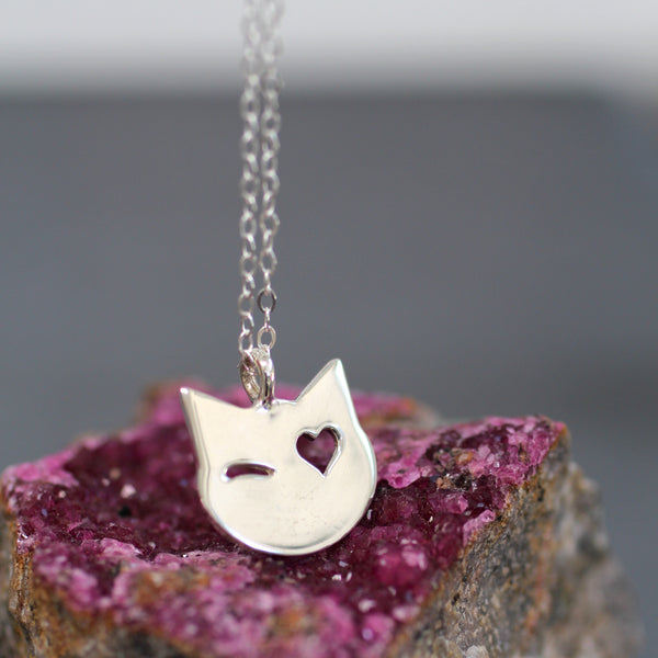 The Poppy One-Eyed Cat Necklace