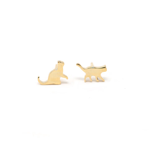 The Silhouette Cat Stud Earrings Collection *