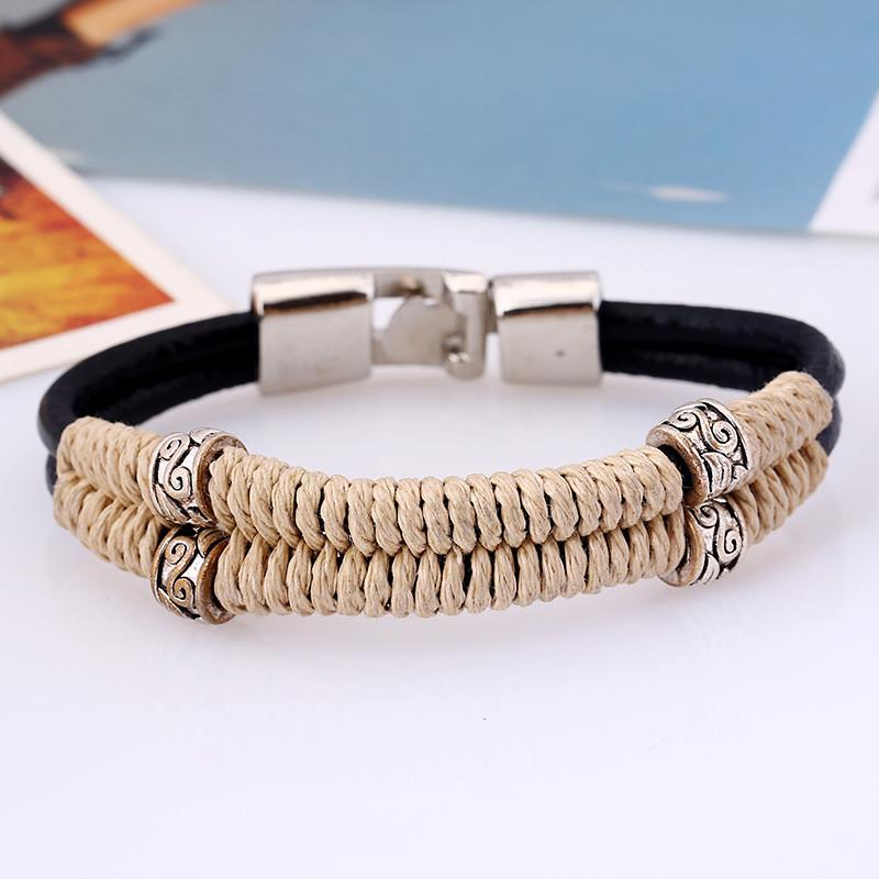 Retro Handmade Bracelet High Quality Cowhide Bracelets New Style Men and Women Leather Bracelet  Jewelry Gift