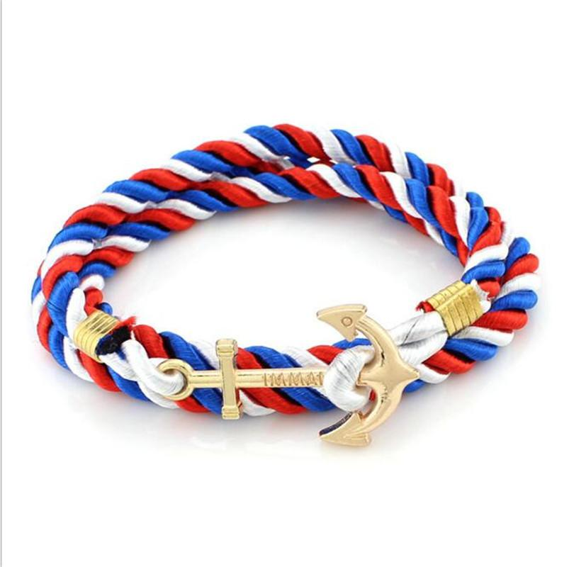 DIY Rope Anchor Bracelet Fashion Women Men Hooks Bracelet Wholesale Bangle Charm Bracelets Jewelry