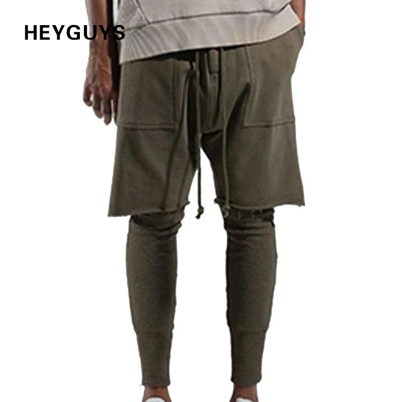 HEYGUYS 2017 fashon Fitness Long Pants Men  Casual Sweatpants Baggy Jogger Trousers Fashion Fitted Bottoms streetwear hiphop