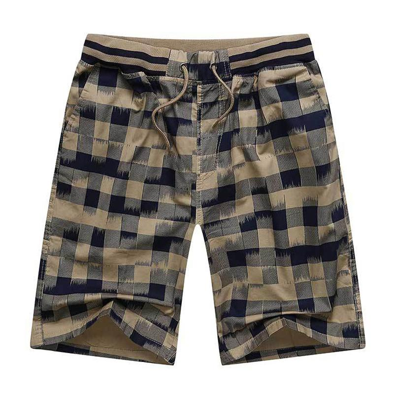 Hot 2017 Summer Men Plaid Shorts Classic Design Cotton Casual Beach Short Pants Brand Famous Shorts Plus Size 4XL High Quality
