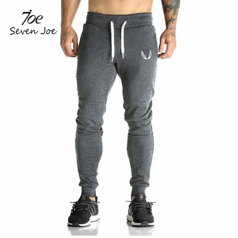 Seven Joe Men full sportswear Pants Casual Elastic cotton Mens Fitness Workout Pants skinny Sweatpants Trousers Jogger Pants