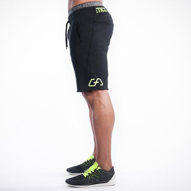 New Brand High Quality Men shorts Bodybuilding Fitness Gasp basketballRunning workout jogger shorts golds
