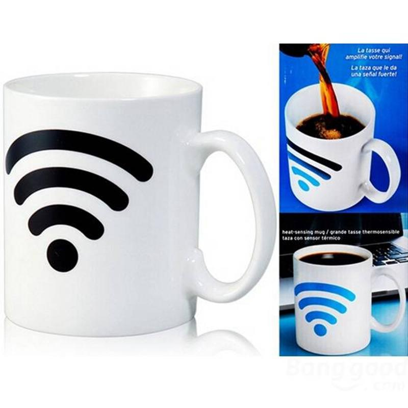 Magic Color Changing Cup Ceramic WiFi Signal Mug