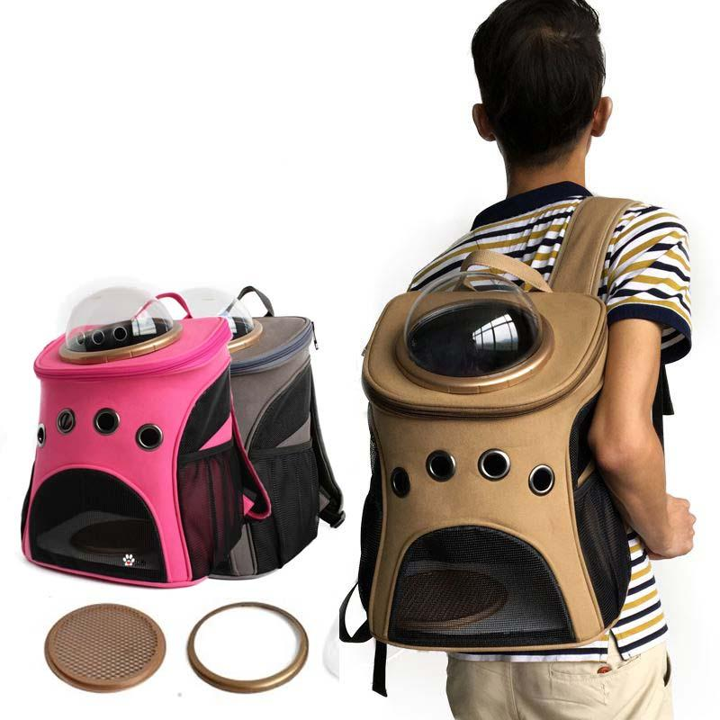 Space Capsule Astronaut Pet Cat Carrier Backpack With Bubble Window