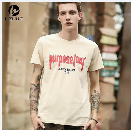 HZIJUE Men T shirt Justin Bieber Purpose Tour Hip Hop Short Sleeve T-shirt Homme My Mama Dont Like You Letter Printed Tops Tee