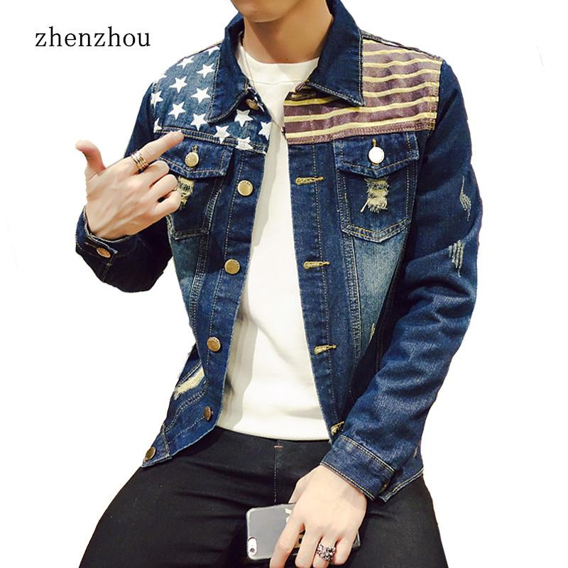 ZhenZhou M-5XL 4 Styles Autumn Winter Fashion Denim Jackets Men Jeans Slim Fit Mens Jackets And Coats Casual Bomber Jacket Men