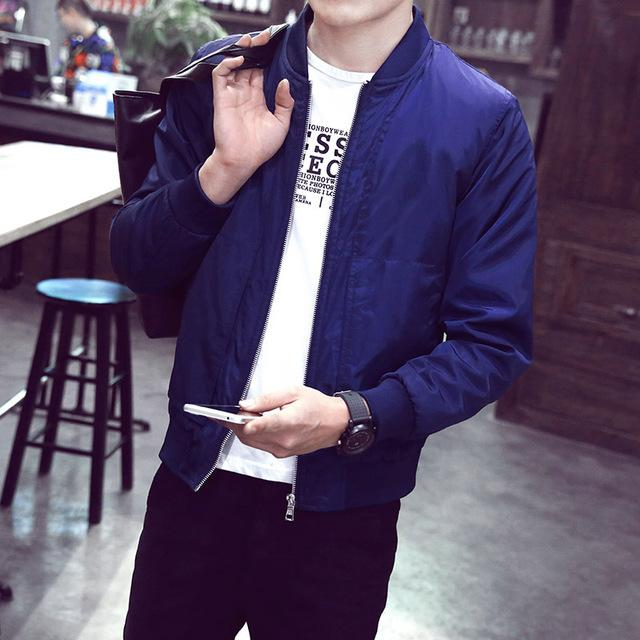 New Arrival Spring Men's Jackets Solid Fashion Coats Male Casual Slim Stand Collar Bomber Jacket Men Outerdoor Overcoat  M-XXXXL