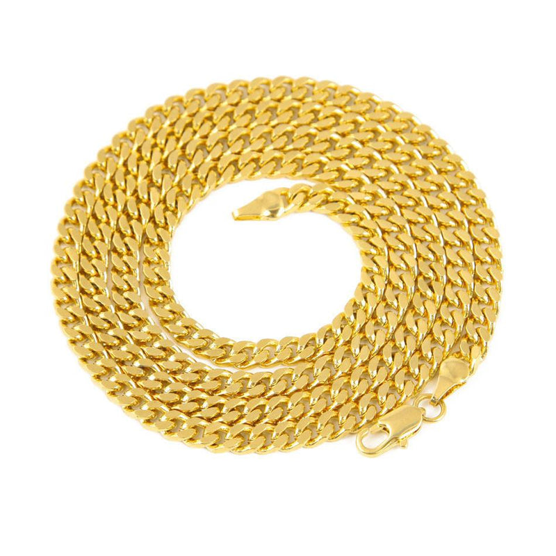 Hot Necklace Europe and America Necklace Gold Silver Fashion Jewelry For Men 5mm Snake Bone Necklace