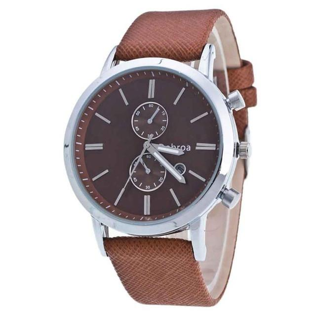 Fashion Men Watch Casual Quartz Watches PU Leather Men Business Auto Date Men Wristwatches Quartz-Watch reloj hombre 2017 &03