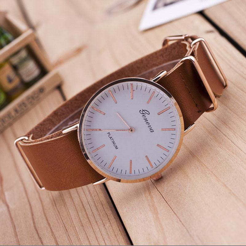 New Ultra-thin Leatherlt Geneva Classic Simple Scale Men Watches