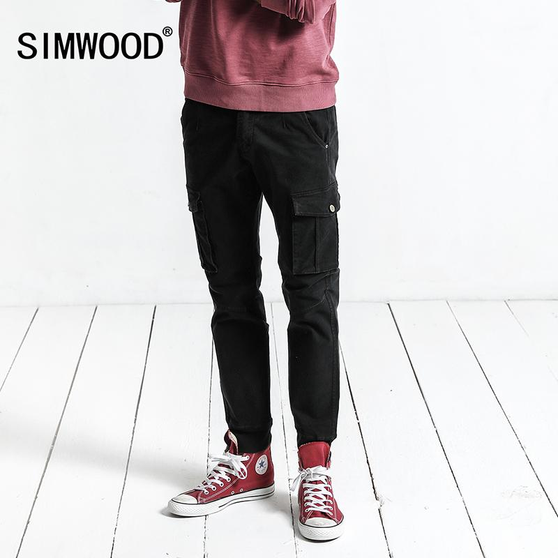 SIMWOOD Cargo Pants Men 2017 Autumn New Pockets Army Tactical Pants Men Vintage Casual Trousers Slim Fit Plus Size XC017041