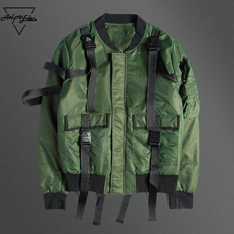 Aelfric Eden Bomber Jacket Men Harbor Pilots MA1 Jacket Casual Ribbon Spliced Patch Jacket Male Thicker Coats Brand Clothing
