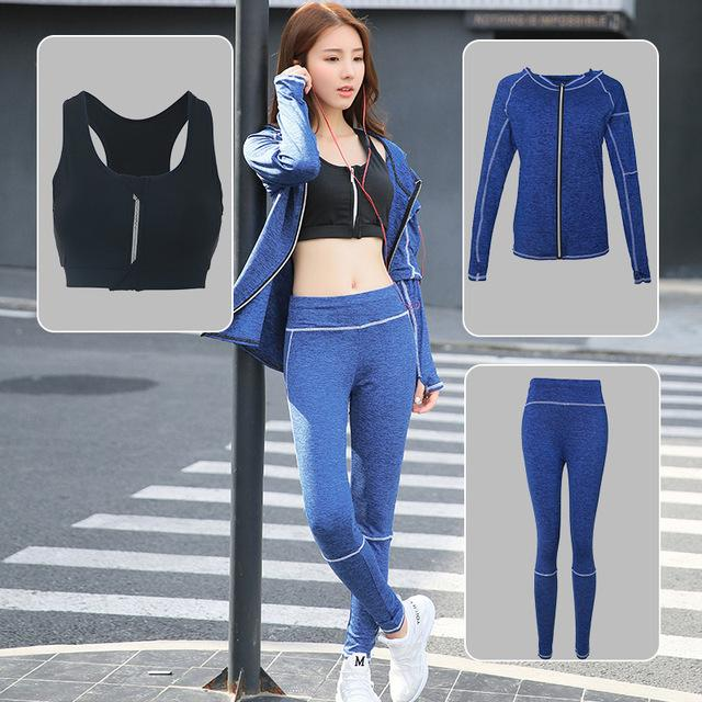 New 2018 Fitness Yoga Set Training Jogging Sportswear