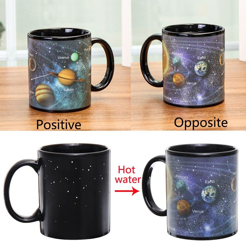 Solar System Starry Sky Color Changing Magic Heat Sensitive Mug