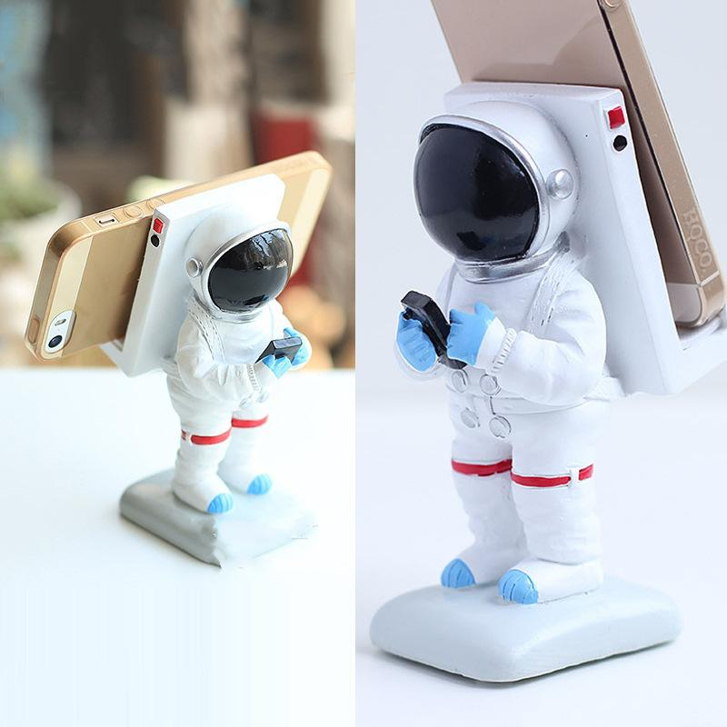Universal Astronaut Spaceman Mobile Phone Desk Holder For iPhone Smartphone Phone Charging Dock Station Lazy Phone Stand
