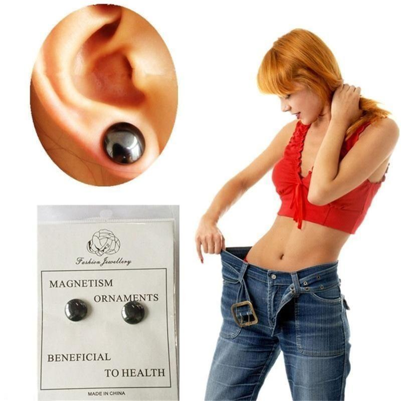 Healthy Stimulating Acupoints Stud Pair Bio Magnetic  Earring  Therapy For  Weight Loss