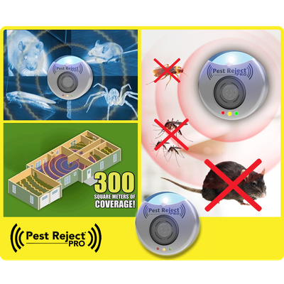 Pest Reject Pro Anti Insect Ultrasonic 300 Square Meters Of Coverage Pest Repeller Electronic Mouse Fly Killer