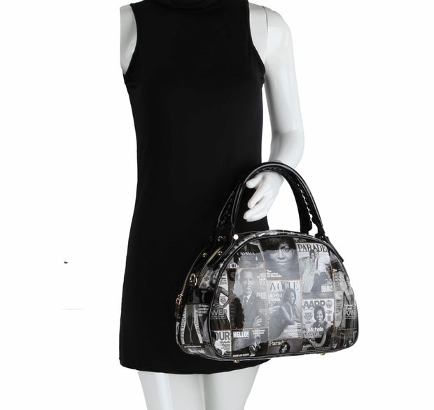 Michelle Obama Small Duffel Bag with adjustable and detachable shoulder strap.