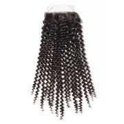 Soft Kinky Curly Hair Extensions 4x4 Lace Closure