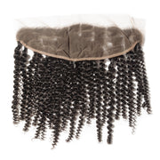 Brazilian Curly Human Hair Soft Frontal Available in 16 inch or 18 Inch.