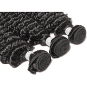 Permanent Deep Wave Remy Human Hair Extensions