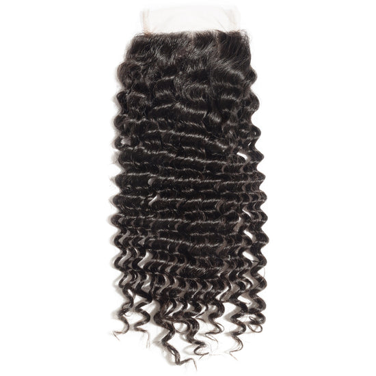 Peruvian Exotic Deep Wave 4x4 Lace Closure