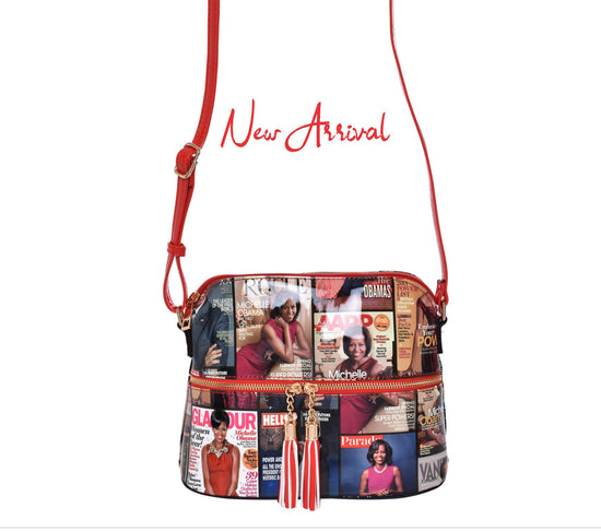 Cross-Body Michelle Obama Red Handbag