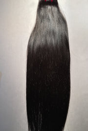 Silky Straight Human Hair Extensions 18 Inch Black