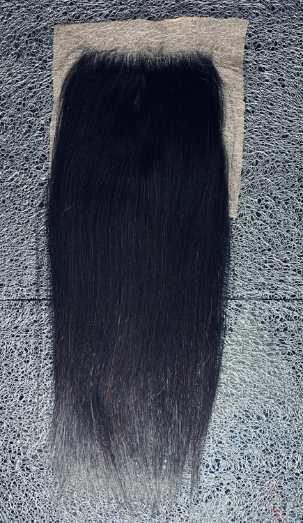 """New"" Vietnamese Straight Virgin Remy 5x5 Closure"