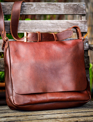 Leather Field Bag made in the USA