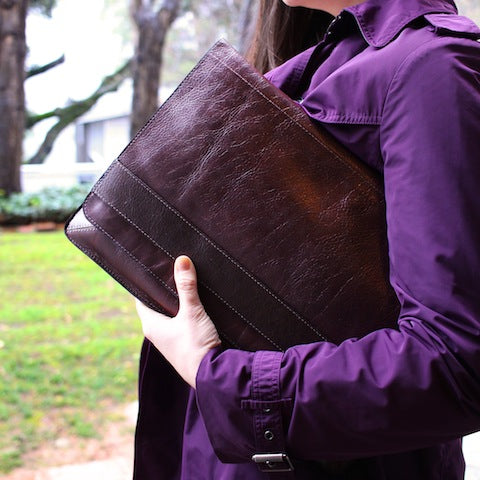 Leather Laptop Case  - USA made