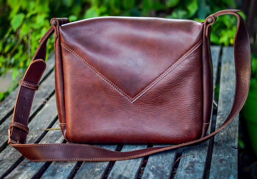 Artisan quality leather bag made in the USA
