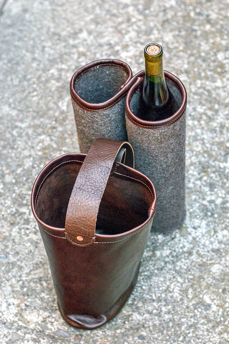 Two Bottle Wine Bag for Culinary Travels