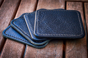 Premium Leather Coasters made in the USA