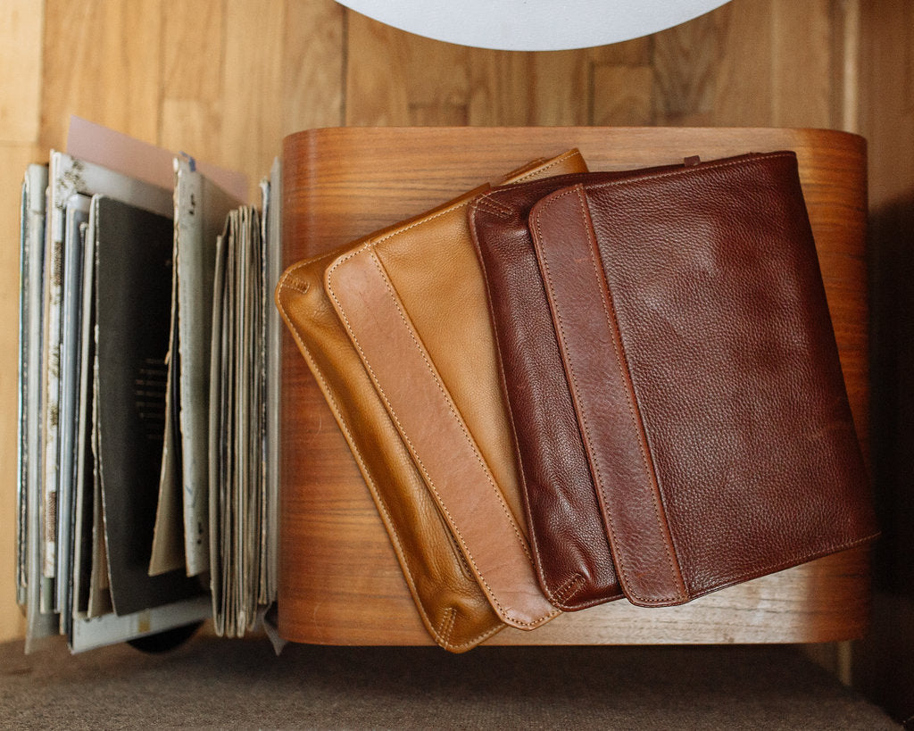 "Leather 10"" iPad cases made in the USA"