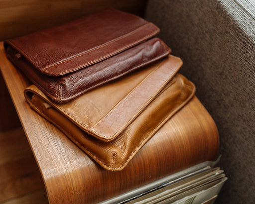 Full grain leather iPad cases in luxurious equestrian style colors
