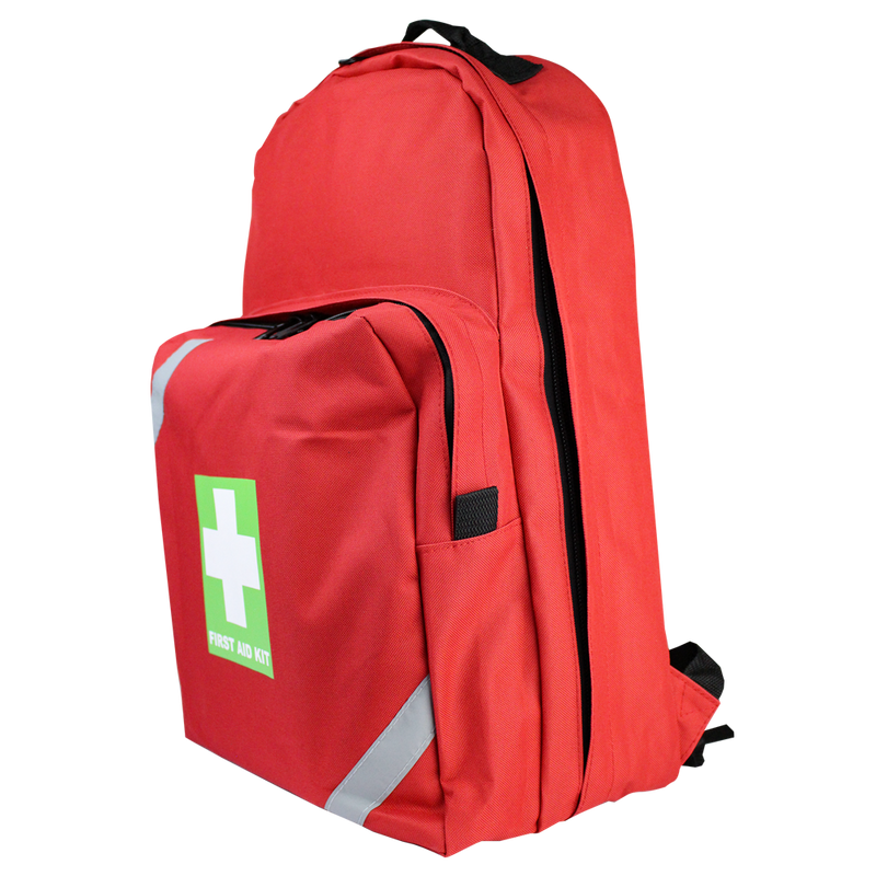 First Aid Backpack Medium Red Empty